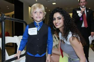 Rula S Khoury with Boy of the Year