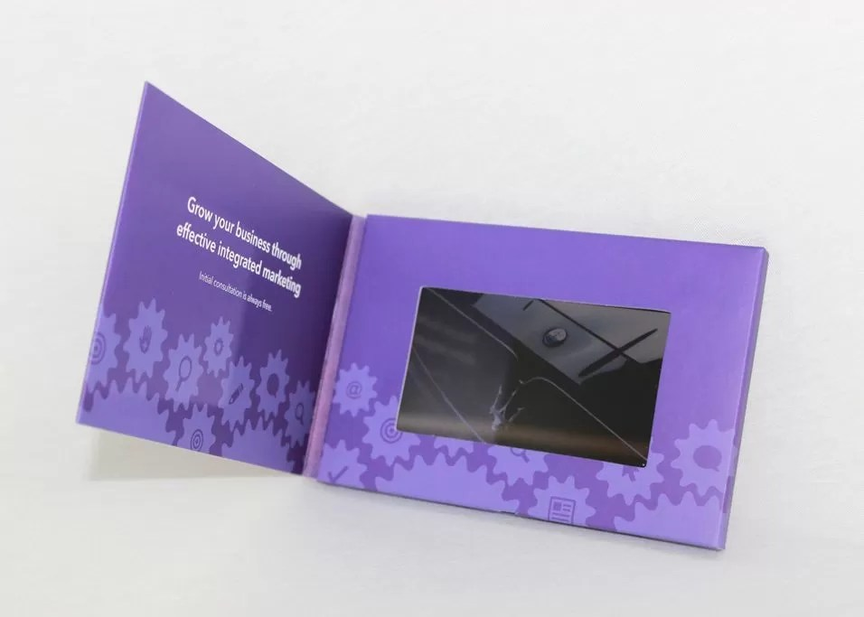 Bulk Printing Paper LCD Video Brochure For Advertising / Promotion