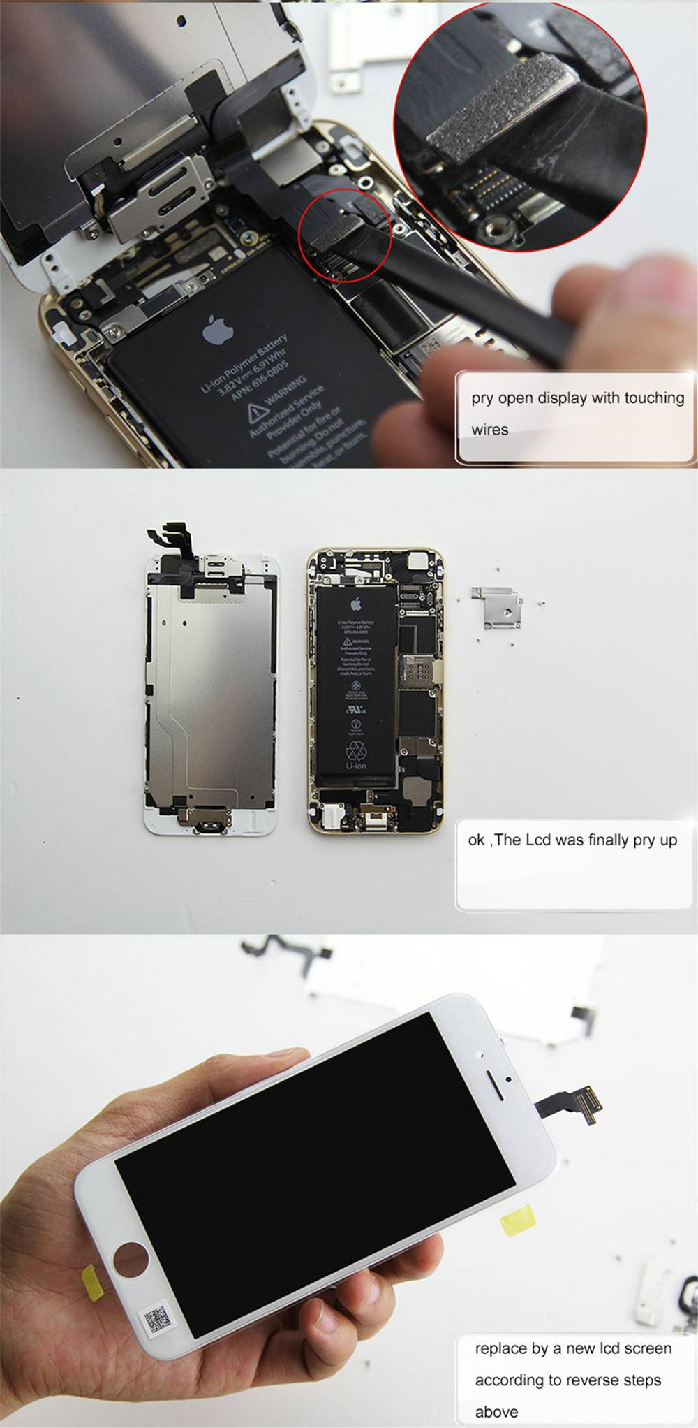 How to change iphone lcd-5