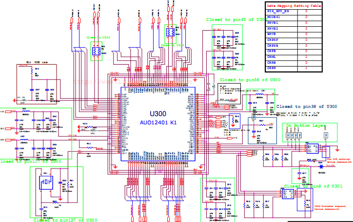 t con board block diagram