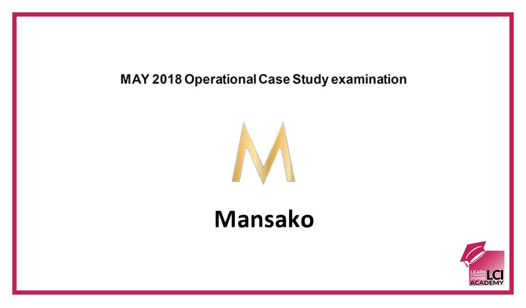 Operational Case Study May 2018 Preseen Analysis LCI Academy - Case Analysis