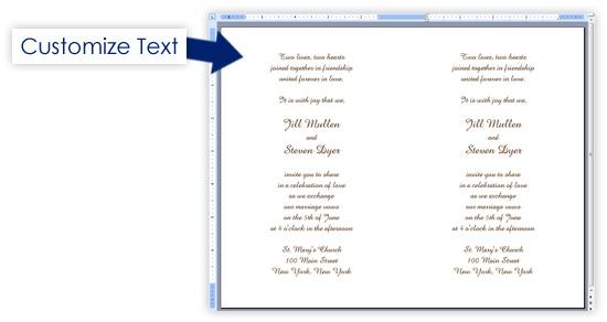 event invitation word template