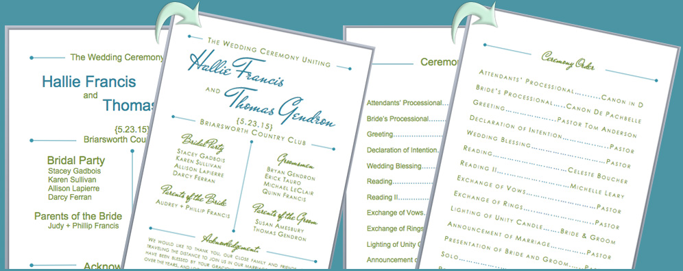 Free Downloadable Wedding Program Template That Can Be Printed - wedding program template free printable
