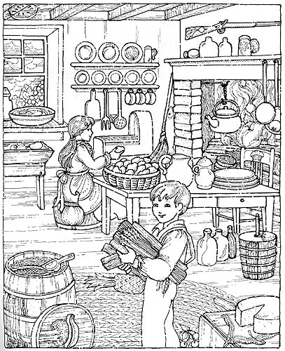 Old-Fashioned Farm Life Coloring Book Nineteenth Century Activities - fresh coloring pages for fourth of july