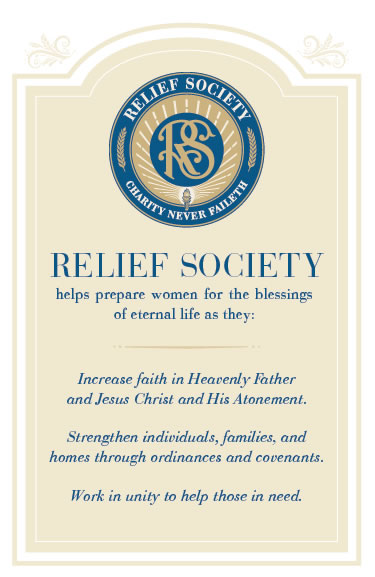 Relief Society Seal, Bookmark, and Poster
