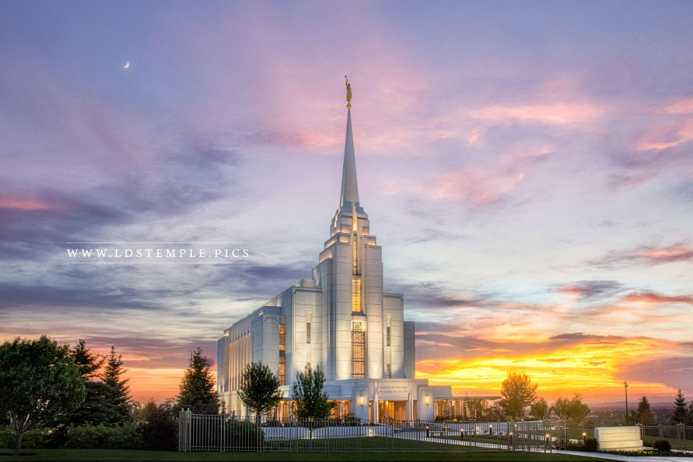 Lds Quote Wallpaper Rexburg Temple Summer Sunset Lds Temple Pictures