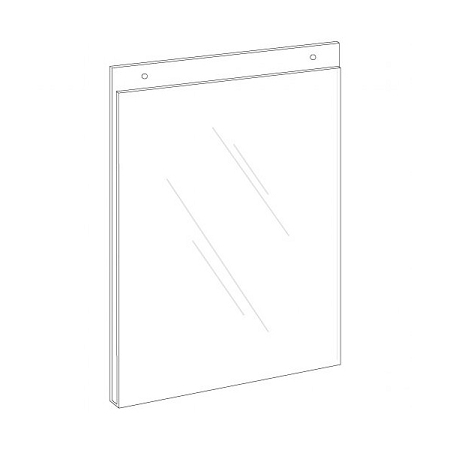 85w X 11h Clear Plastic Wall Mount Ad Frame Sign Holder