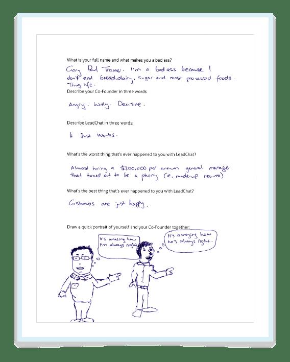 Gary Questionnaire