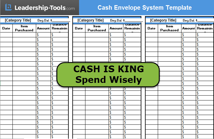 Download Cash Envelope System Template - money envelope template