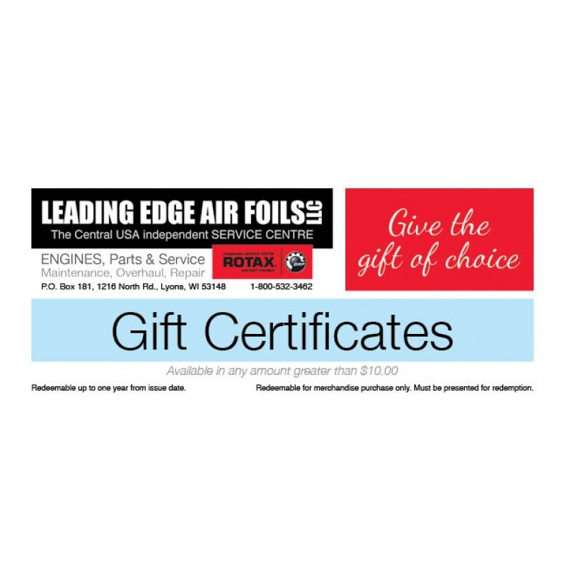 Leading Edge Air Foils Certificates starting at $1000