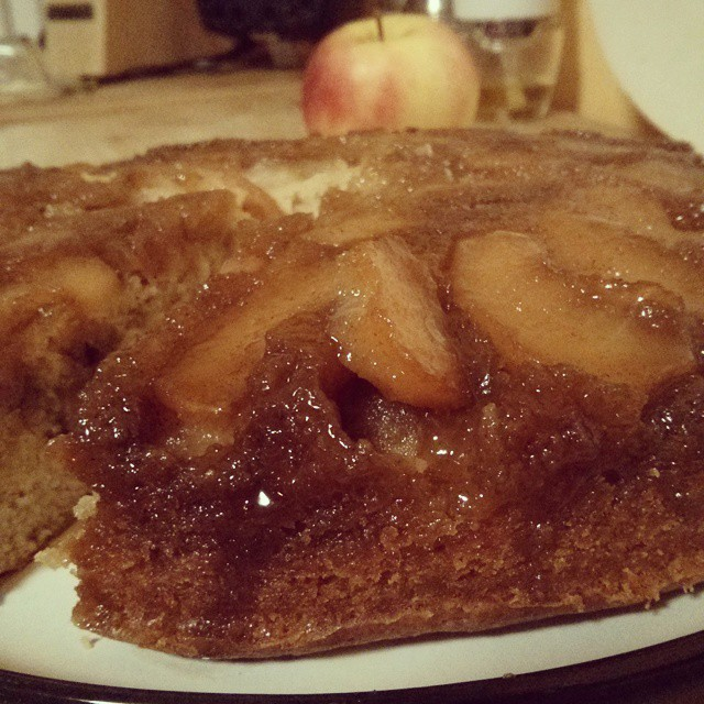 Fall is here!  Caramel apple upside down cake. O... M...G.