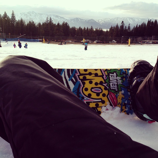 I think I spent more time on my bum than on my feet, but I am officially addicted to snowboarding.