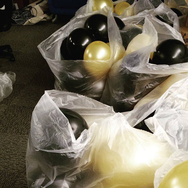 Nothing like blowing up 300 balloons to make you feel accomplished.