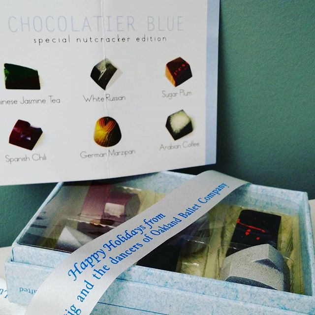 Super excited to try our custom Oakland Ballet Nutcracker edition chocolates from Chocolatier Blue! #fancy