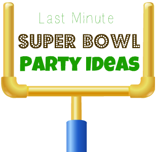 Last minute super bowl party ideas leah with love for Last minute party ideas