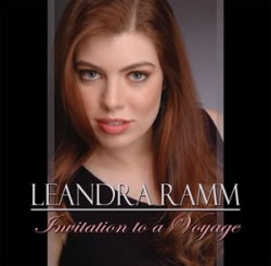 Leandra Ramm picture, wearing black dress for Invitation to A Voyage Album Cover