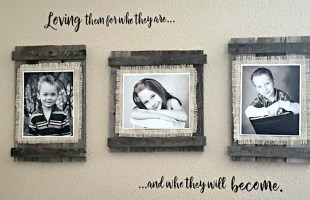 DIY Rustic Picture Frame Tutorial