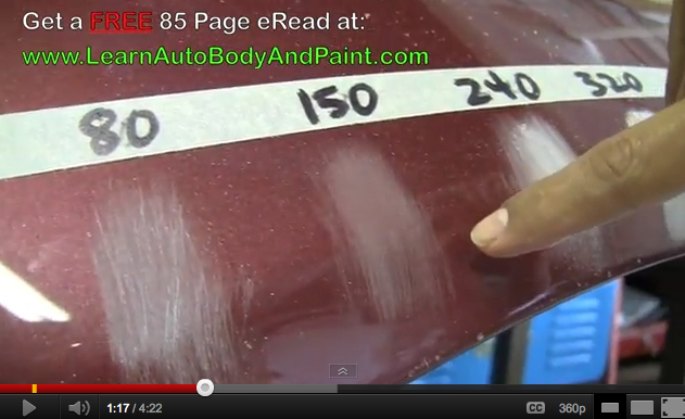 Most Common Autobody Sand Paper Grits 80 Grit 150 Grit