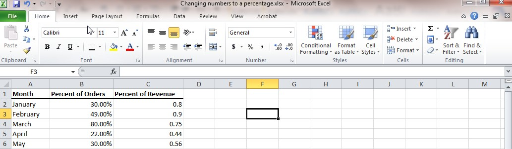 Convert numbers to percentage in excel - Learn Excel Now