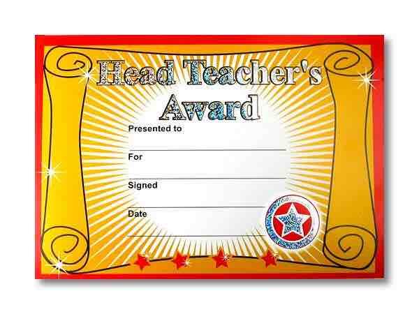 teacher award template