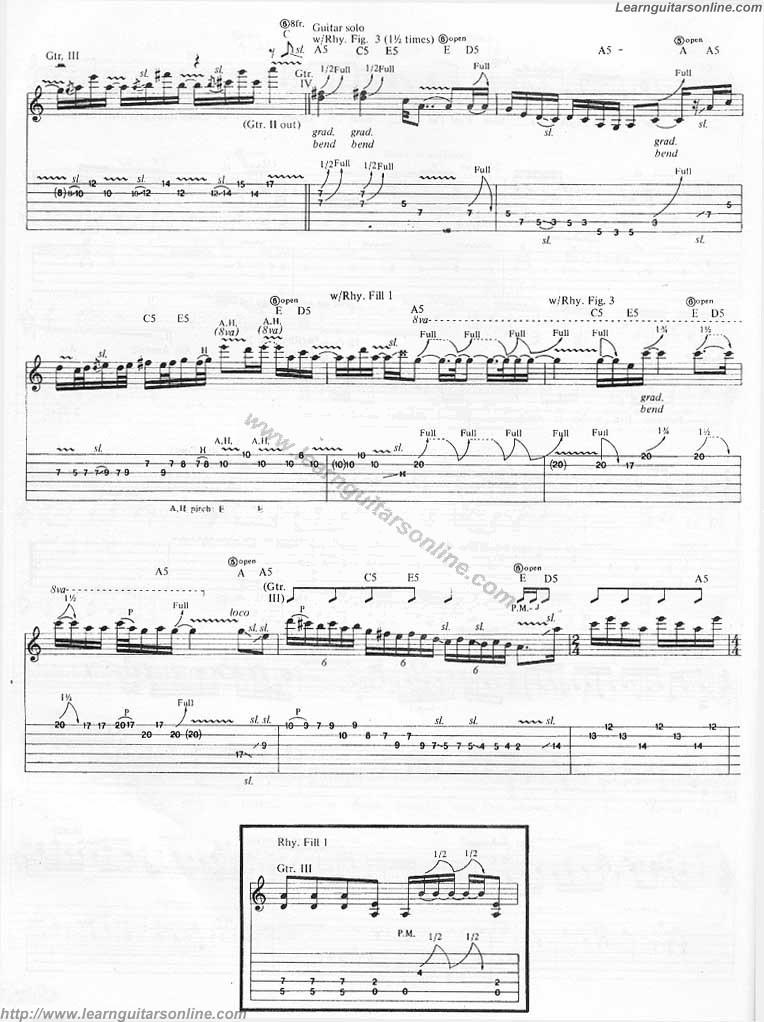 The Unforgiven by Metallica(5) Free Guitar Sheet Music, Tabs, Chords