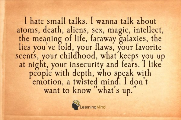 i hate small talks