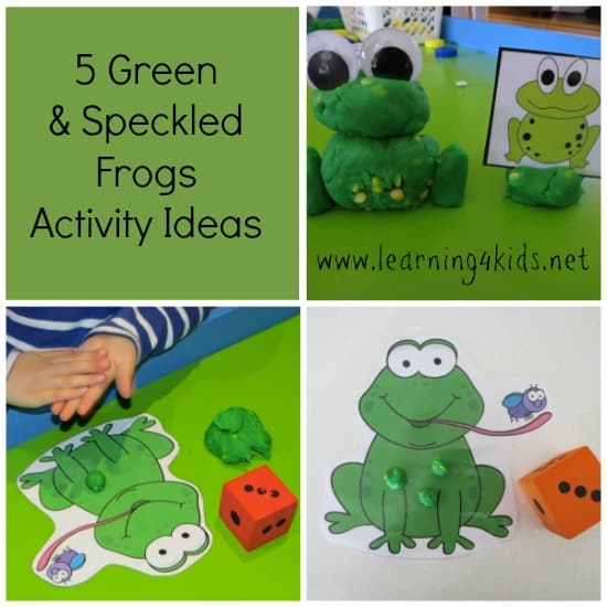 5 Green  Speckled Frogs Activity Ideas Learning 4 Kids