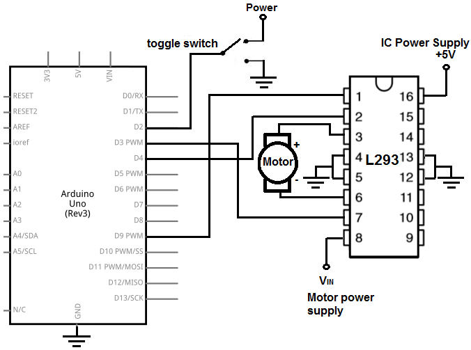 h bridge motor driver circuit