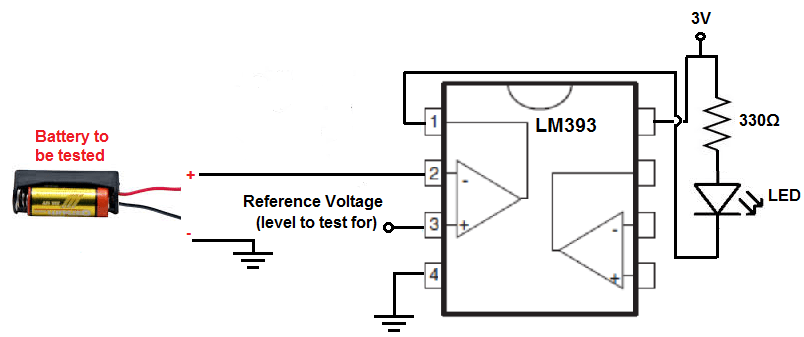 how to build battery tester circuit schematic