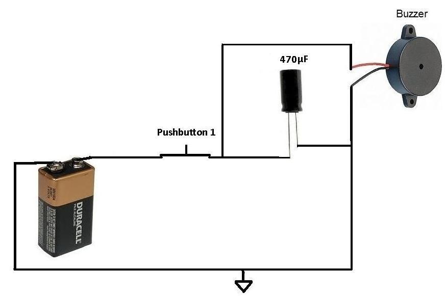 9 volt buzzer circuit diagram