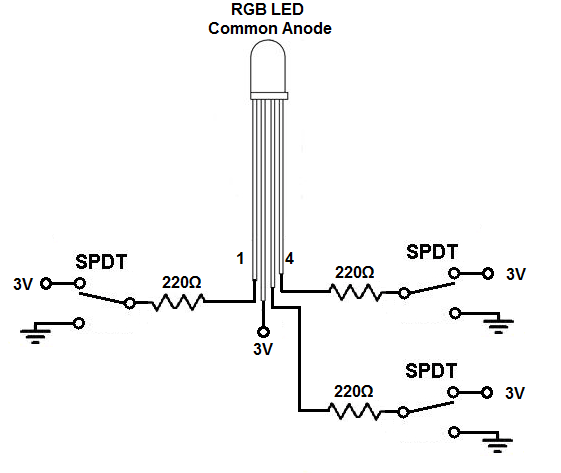 tri color led circuit