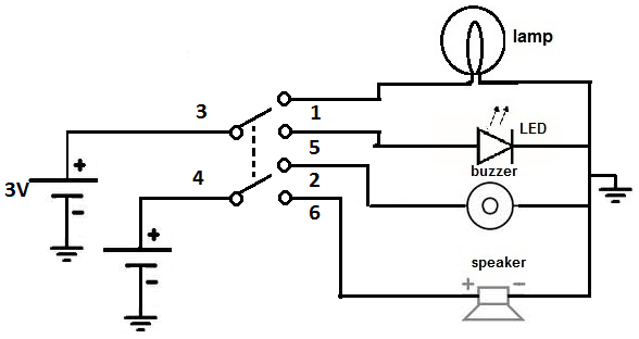 momentary switch toggle circuit