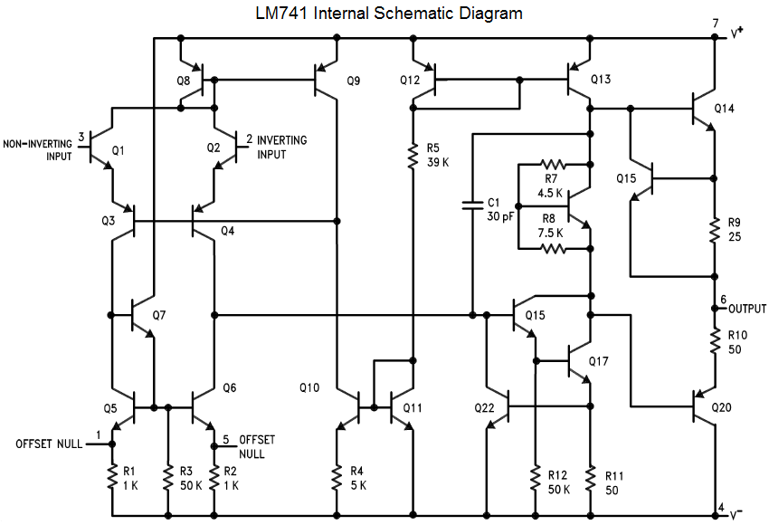 the opamp a741 switch power supply circuit