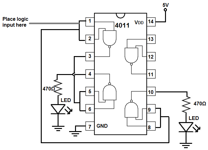 logic probe tester circuit diagram