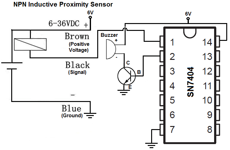 proximity sensor electronic circuit diagram