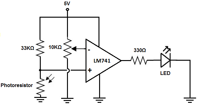 voltage amplifier circuit using op amp