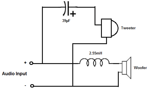 speaker network circuit diagram