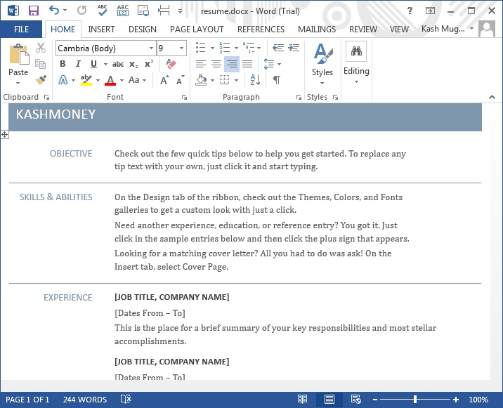 Microsoft Word 2013 Tutorial - MS Office 2013 Training IT Computer - ms word user manual