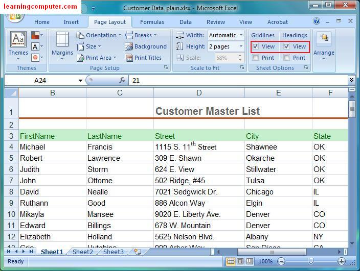 Microsoft Excel \u2013 Page Layout Tab \u2013 IT Computer training