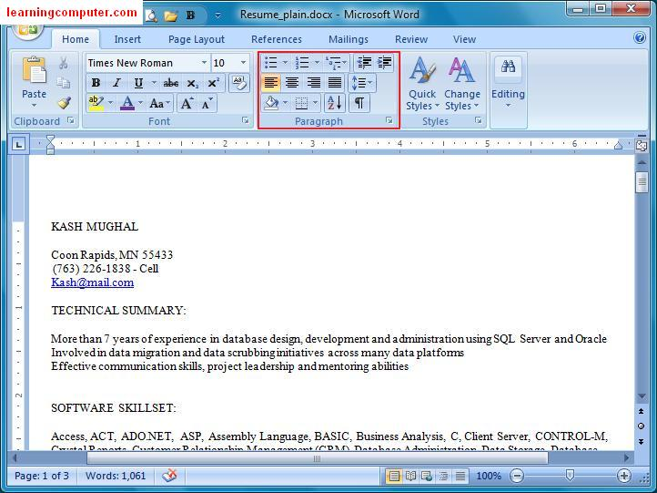 Word 2007 Templates Microsoft Word Templates Learn Microsoft Office Word 2007 Home Tab It Computer