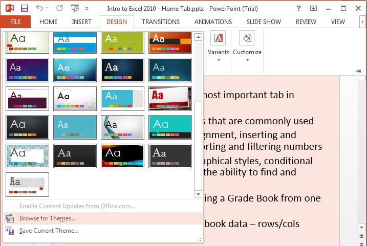 MS Office 2013 PowerPoint Tutorial - The Basics