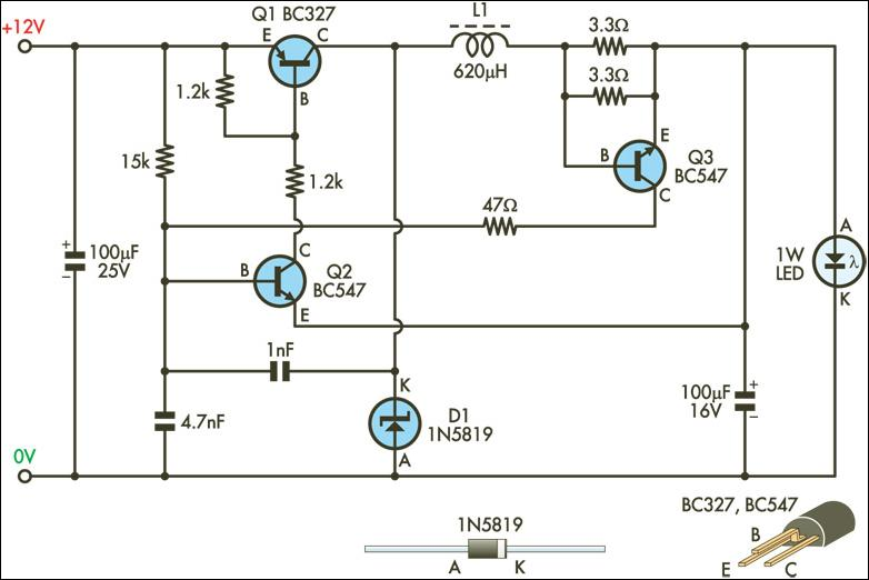 Led Power Supply Schematic Wiring Diagram