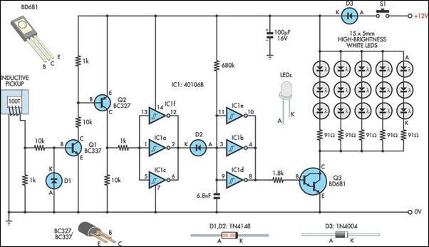 Automotive LED Timing Light Circuit Diagram