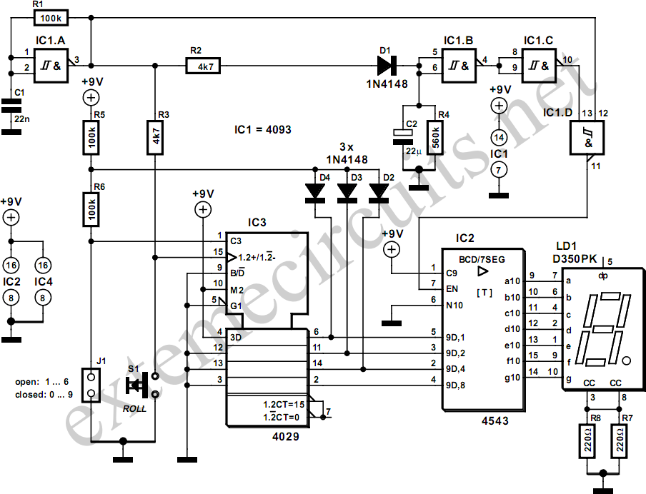 electronic siren circuit diagram schematic
