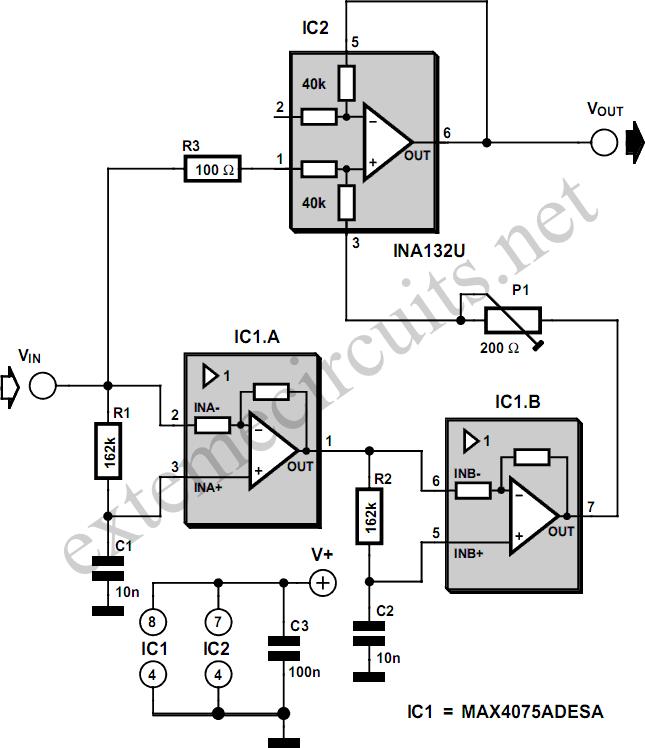 circuit diagram with two resistors