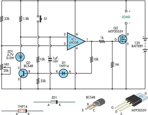 low voltage disconnect circuit schematic