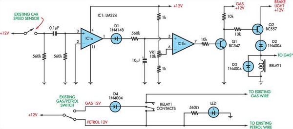 Petrol Gas Switch For A Pajero Circuit Diagram