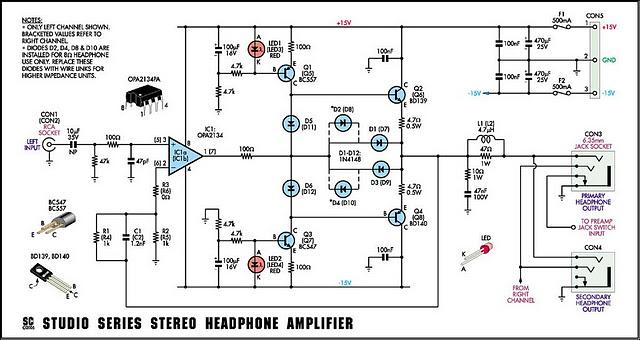 headphone amplifier circuit amplifiercircuit circuit diagram