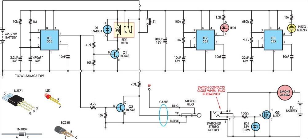 Temporarily Silencing A Smoke Detector Circuit Diagram