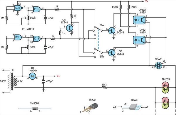 Using AC for LED Christmas Lights Circuit Diagram